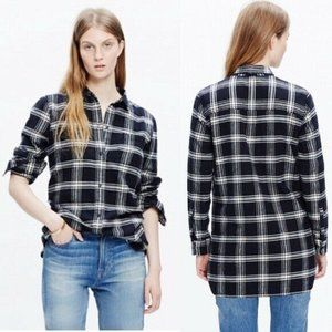 Madewell Ex-Boyfriend Plaid Flannel Shirt